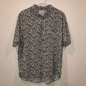 Your Neighbors graphic button up short-sleeve